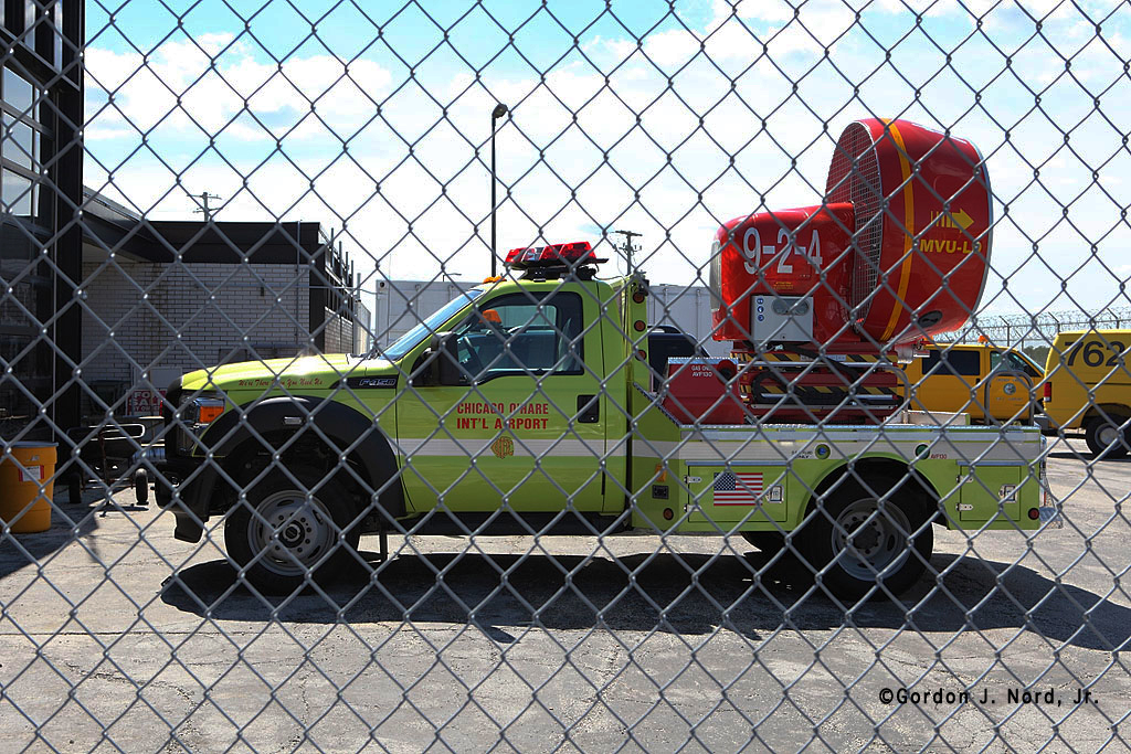 Chicago Fire Department at O'Hare Airport mobile ventilation unit