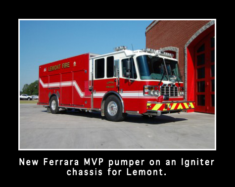 Lemont Fire District Ferrara Igniter MVP engine