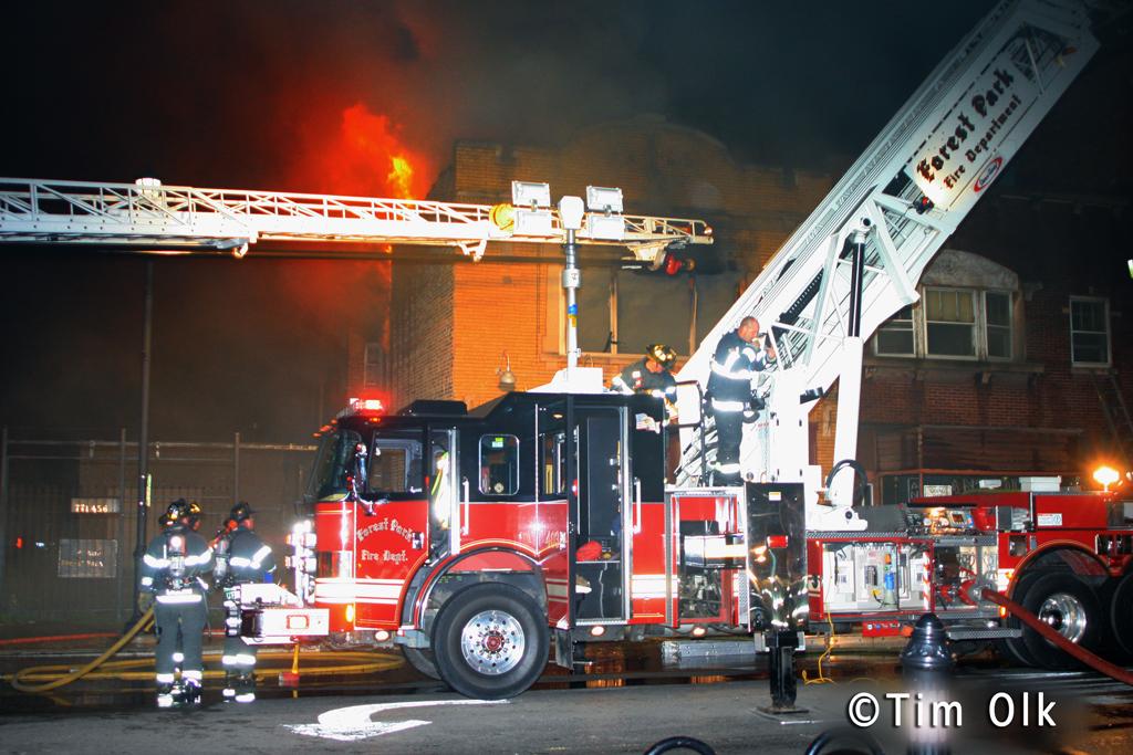 Forest Park restaurant fire on Madison Street 9-2-11