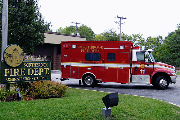 Northbrook Fire Department Ambulance 11 2011 IHC Medtec