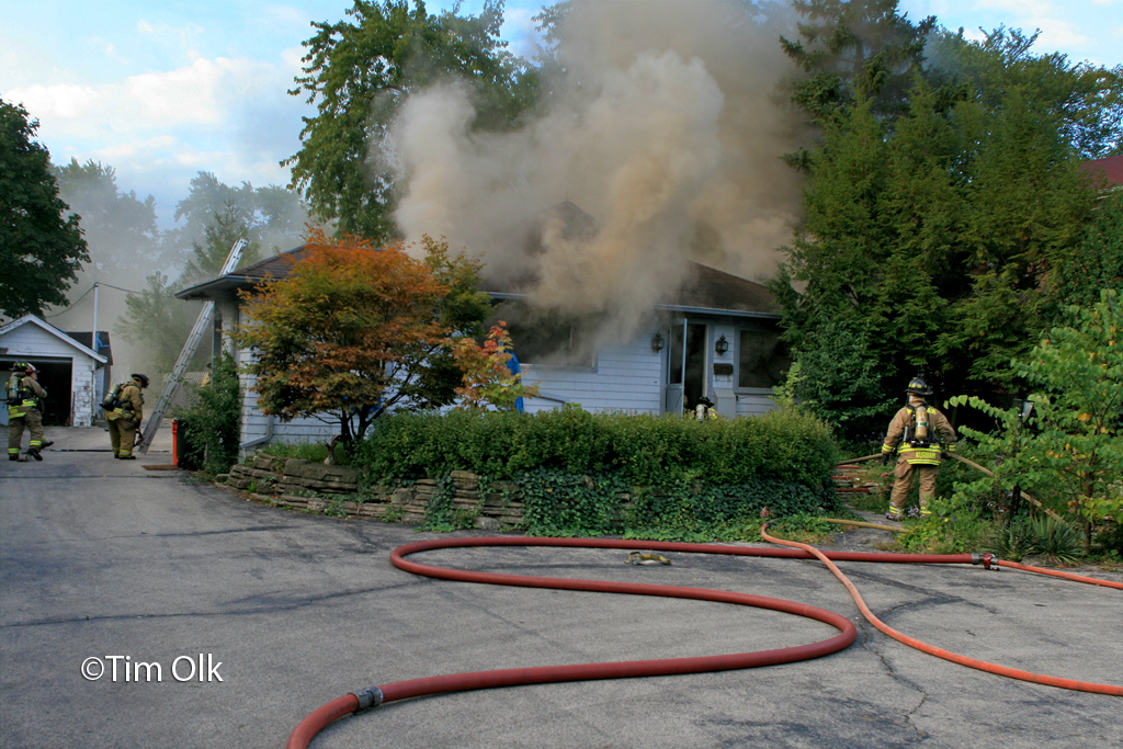 Northbrook house fire at 1017 Shermer Road 9-23-11