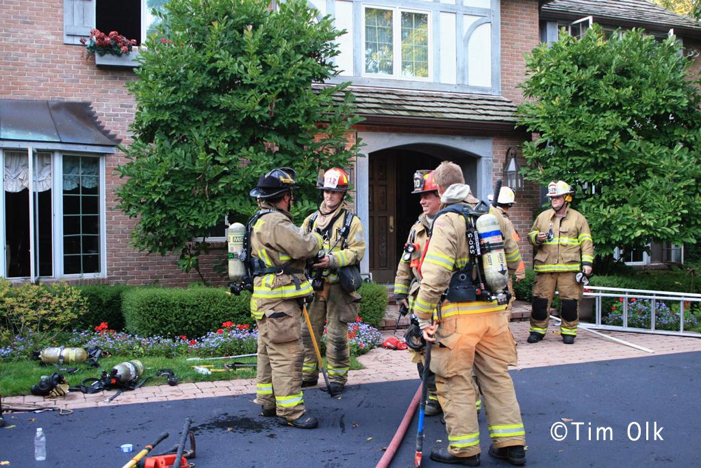 Northfield house fire 2300 block of Burr Oak 9-19-11