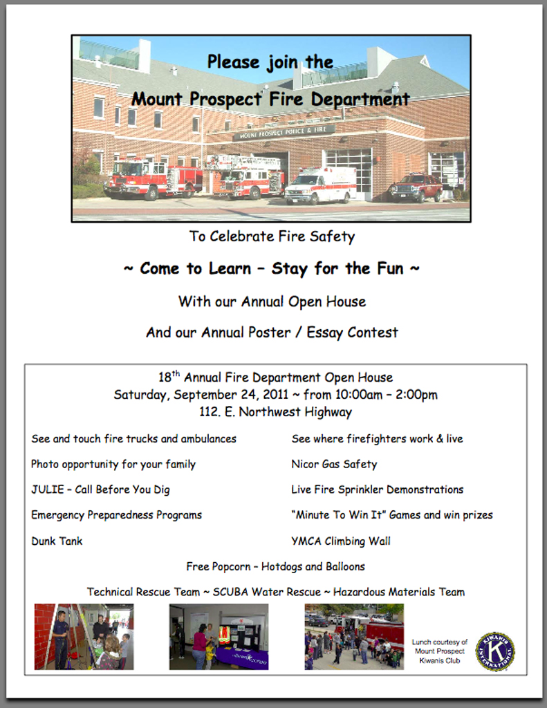 Mount Prospect Fire Department Open House