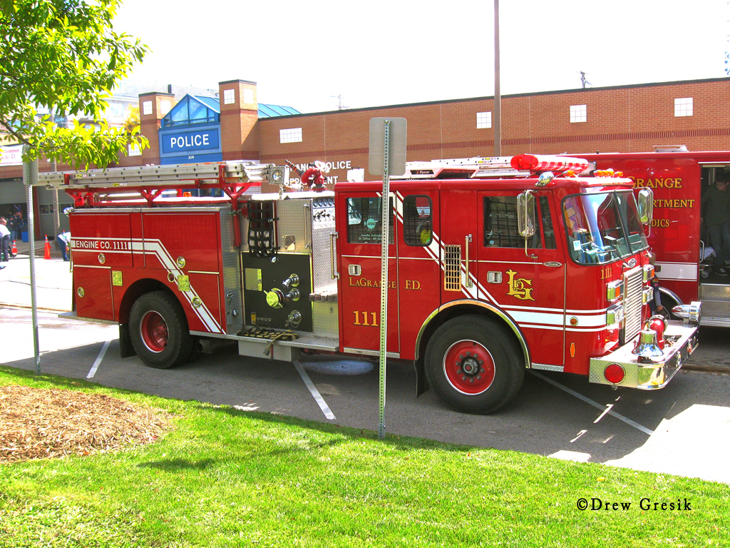 Lagrange Fire Department Pierce Lance engine