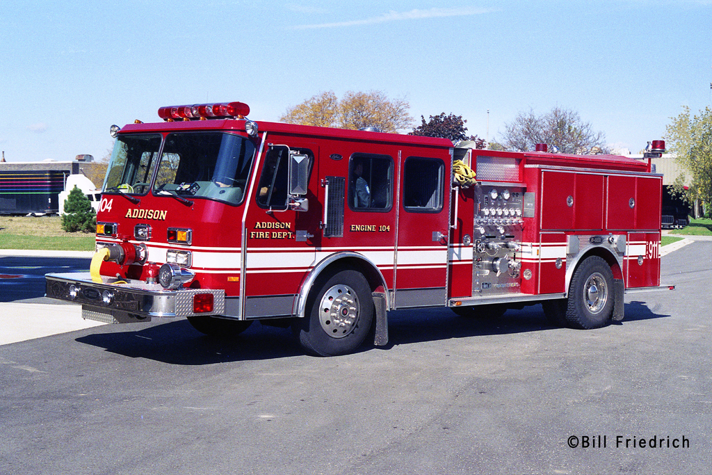 Addison Fire District E-ONE Cyclone engine