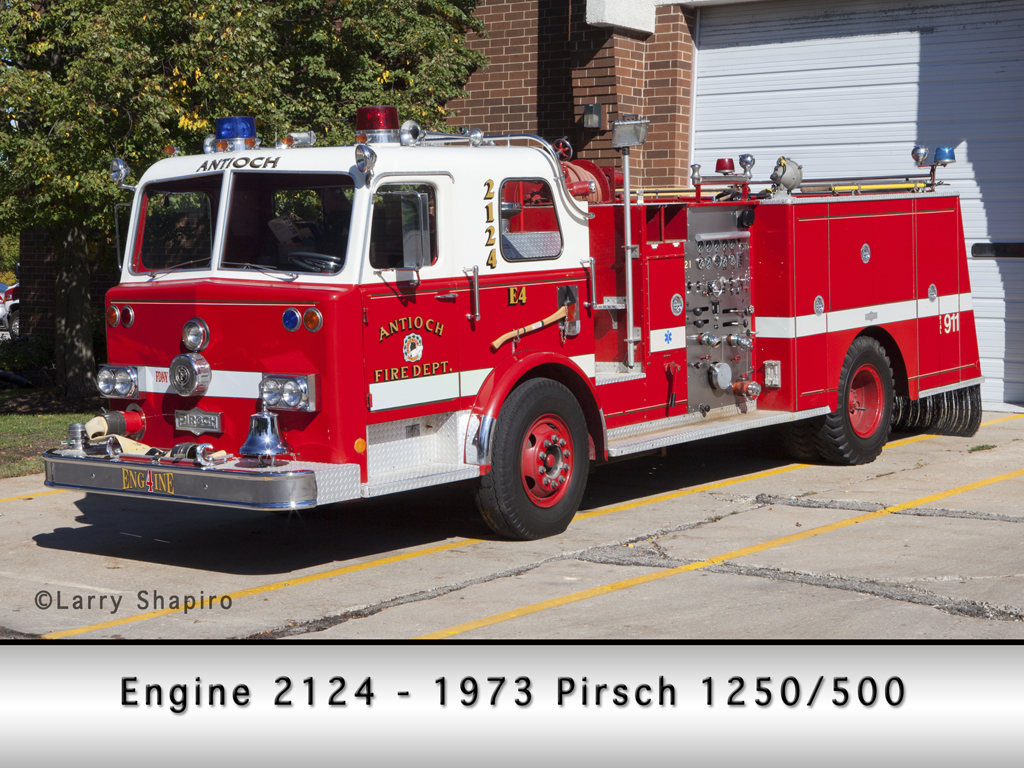 Antioch Fire Department Pirsch pumper