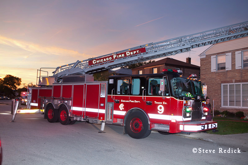 Chicago Fire Department Truck 9 Crimson aerial