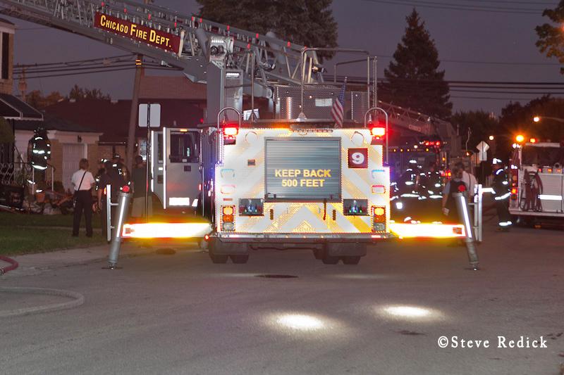 Chicago Fire Department Truck 9 Crimson aerial