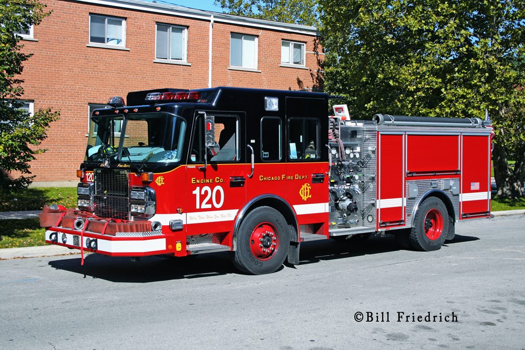 Chicago Fire Department Engine 120 Crimson engine