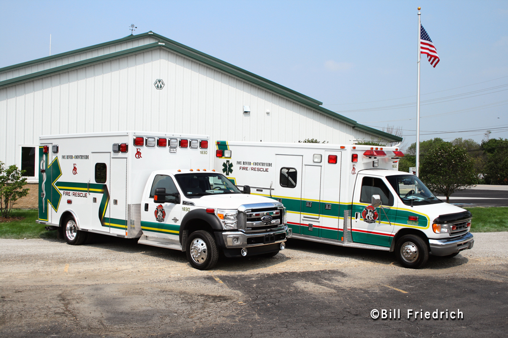 Fox River & Countryside Fire Rescue District ambulances