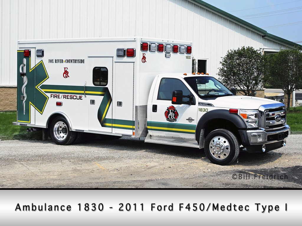 Fox River & Countryside Fire Rescue District Ambulance 1830