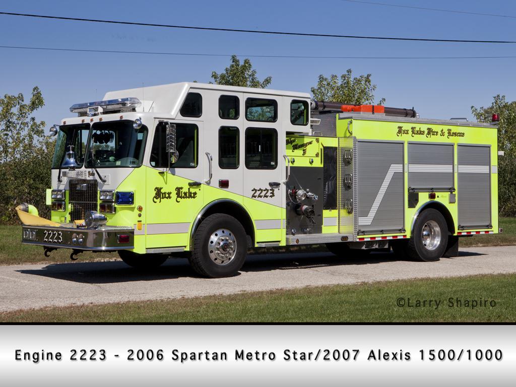 Fox Lake Fire Department Spartan Alexis engine