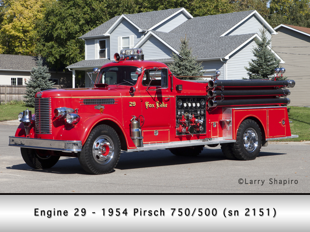 Fox Lake Fire Department 1954 Pirsch pumper
