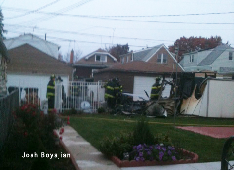 Cicero Fire Department garage fire 10-30-11 6400 block of 61st Avenue