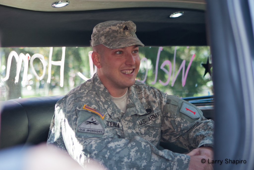 Prospect Heights welcomes Army Sgt Ben Stehman