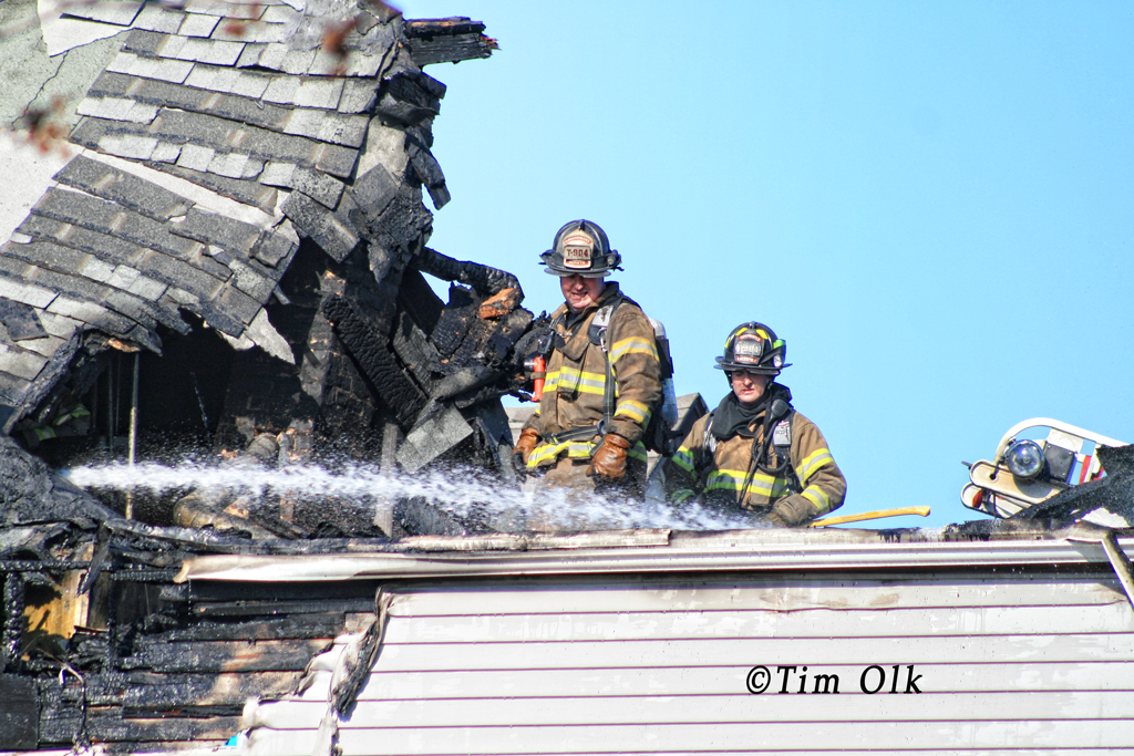 Berwyn Fire Department house fire 11-17-11 at 1310 East Avenue
