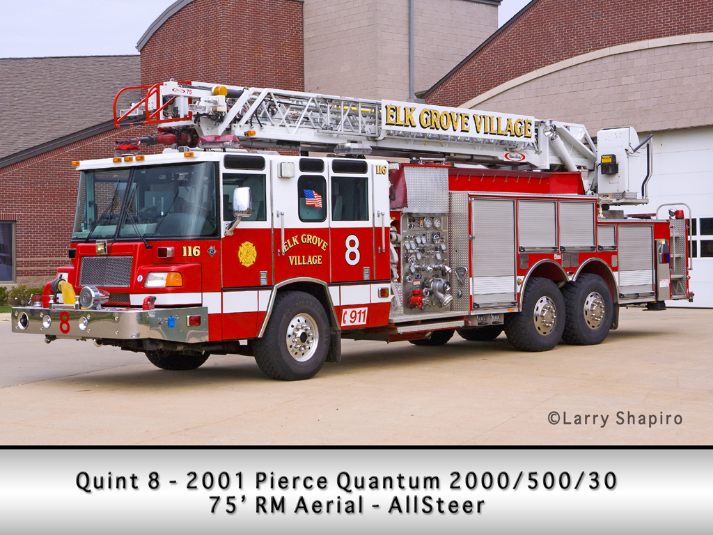 Elk Grove Fire Department Quint 8 Pierce Quantum