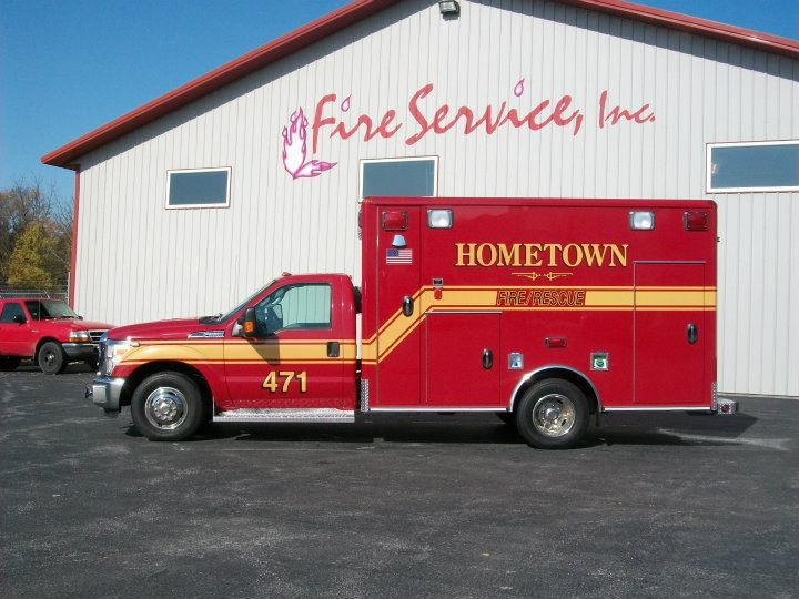 Hometown Fire Department Wheeled Coach ambulance