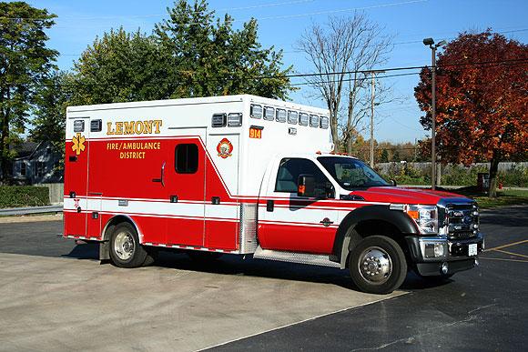 Lemont Fire Protection District Medtec ambulance