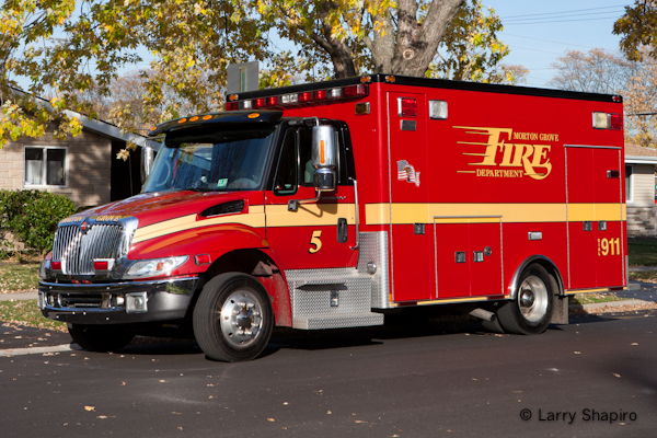 Morton Grove Fire Department Ambulance 5 IHC Medtec Type I