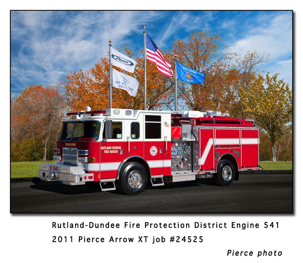 Rutland Dundee Fire Protection District Engine 54 2011 Pierce Arrow XT
