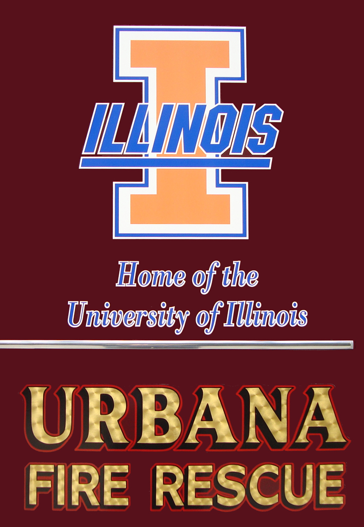 Urbana Fire Department University of Illinois Illini graphics