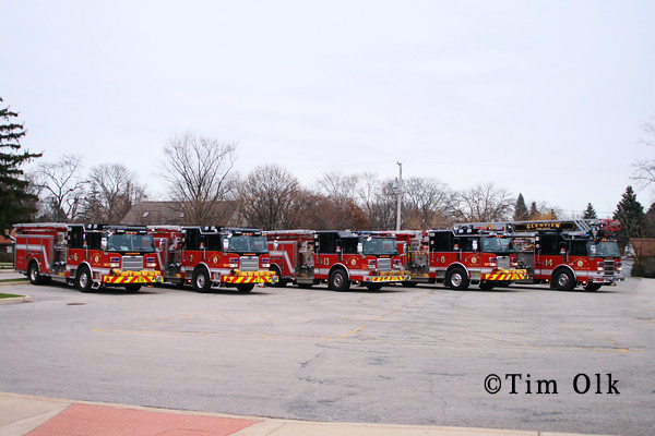 Glenview Fire Department Fleet shot Pierce units