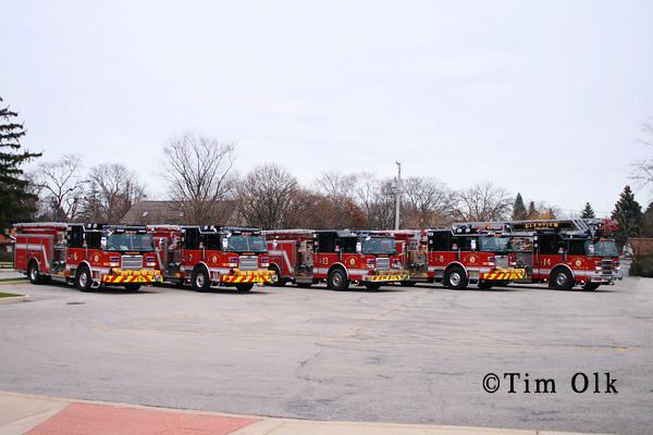Glenview Fire Department Fleet shot Pierce units