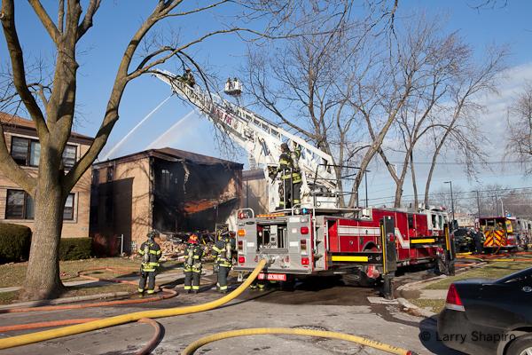 Skokie building explosion 12-12-11 Kimball Avenue