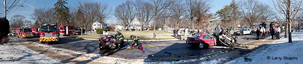 Glenview multi vehicle accident multi injury accident 12-18-11 Glenview Road