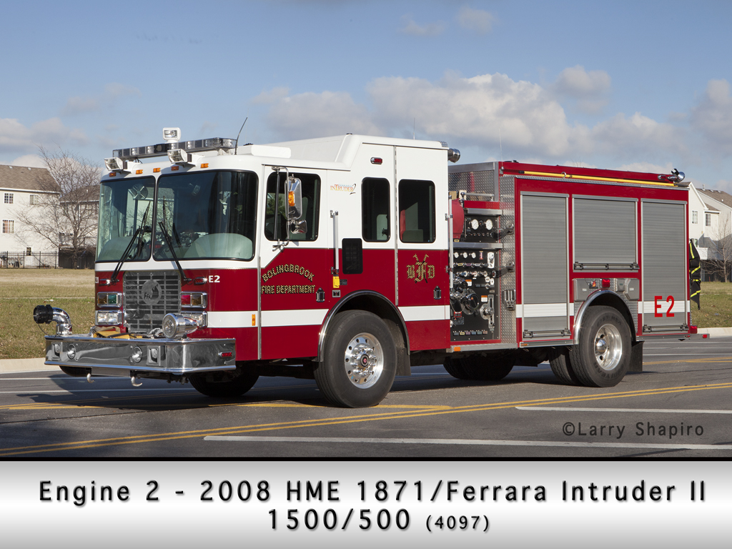 Bolingbrook Fire Department Engine 2 HME Ferrara Intruder 2
