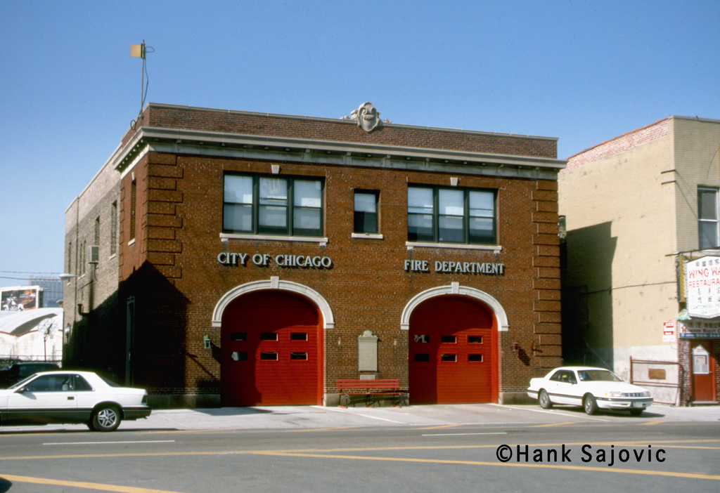 Chicago firehouse in Chinatown