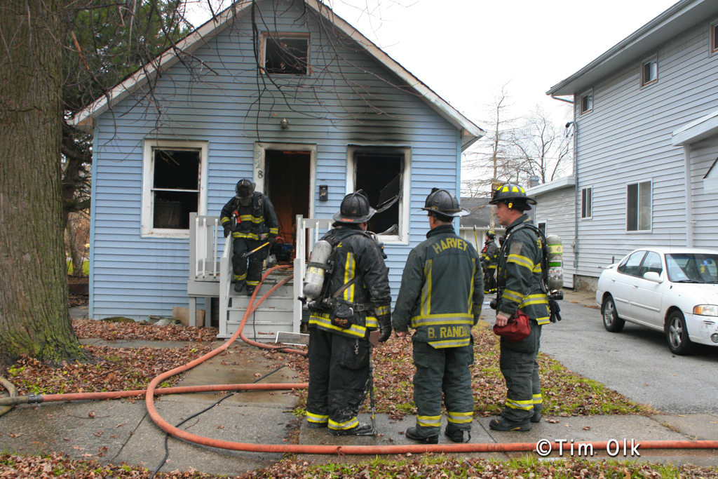 Harvey Fire Department house fire 12-4-11