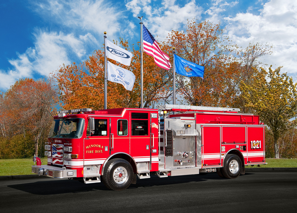 Minooka Fire Protection District Pierce Arrow XT engine