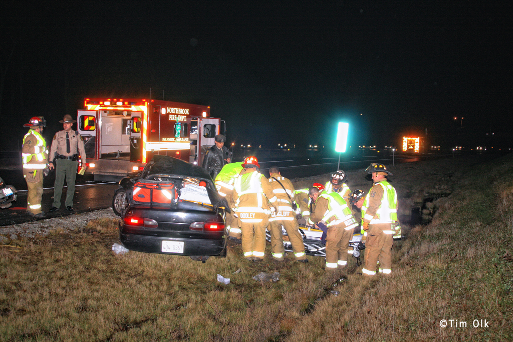 Fatal accident in Northbrook I94 tollway spur 12-3-11