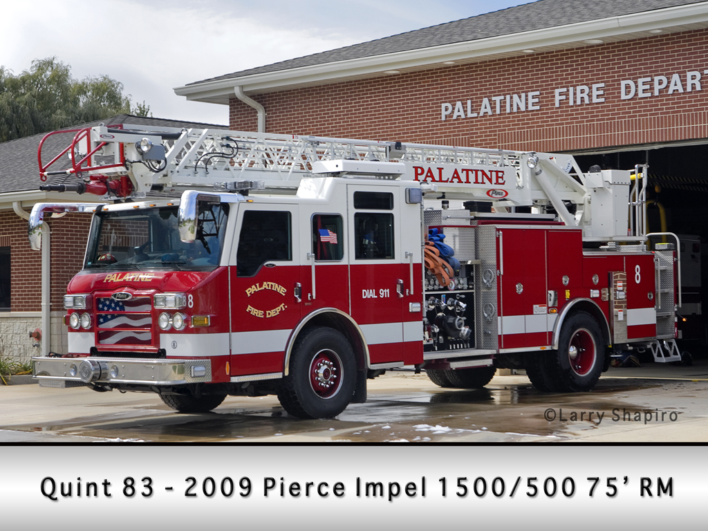 Palatine Fire Department Quint 83