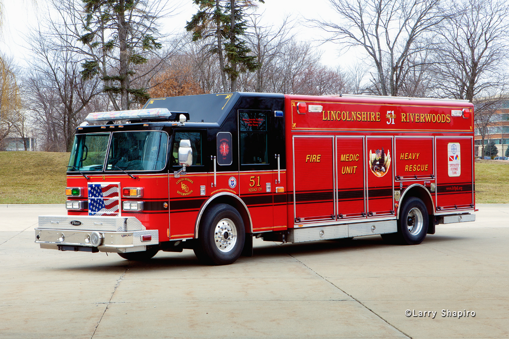 Lincolnshire-Riverwoods FPD Squad 51 Pierce Dash