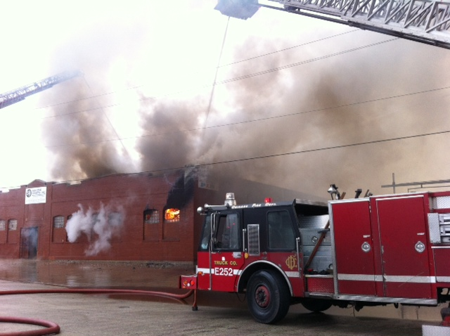 Chicago 3-11 Alarm Fire on 38th Street 12-21-11