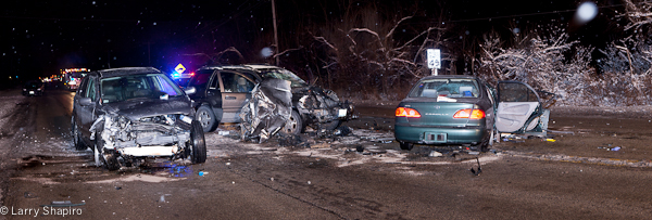 four hurt in Lincolnshire crash 1-13-12