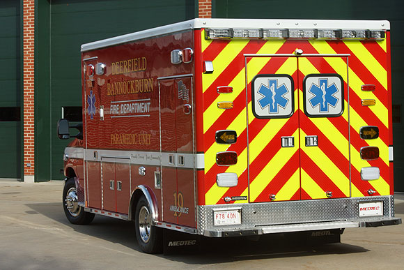 Deerfield-Bannockburn FPD Ambulance 19 new delivery