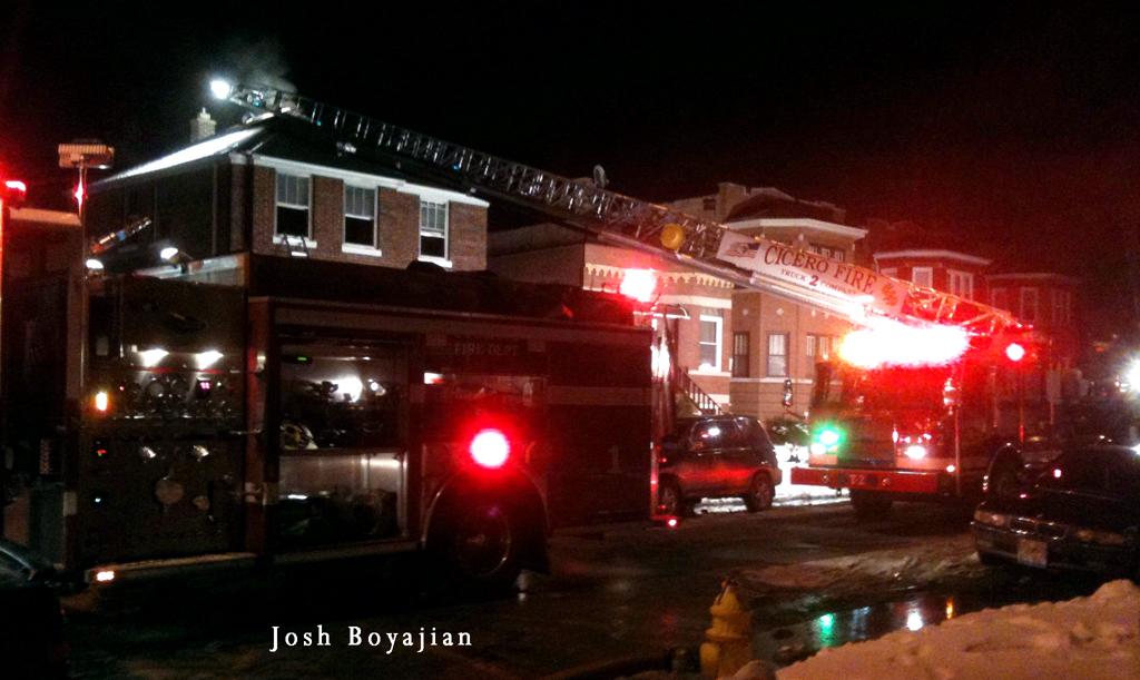 Cicero house fire 1-15-12