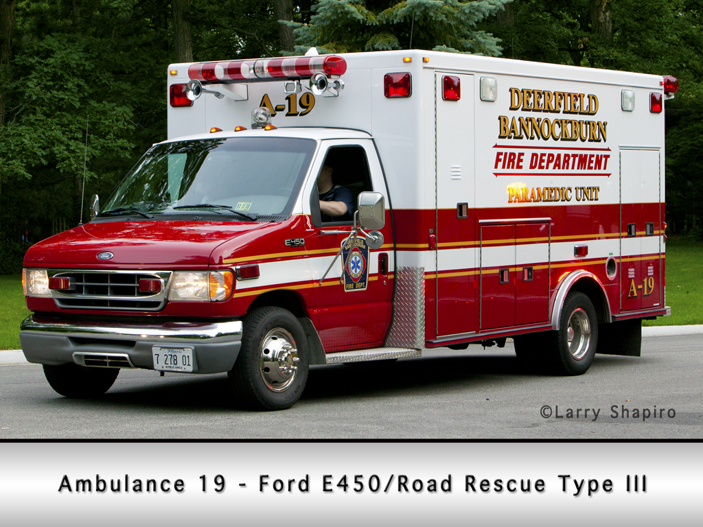 Deerfield Bannockburn Fire Protection District Ambulance 19