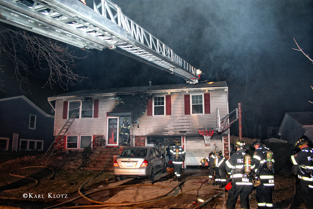 Frankfort house fire 1-2-12 at 19949 Spruce Drive