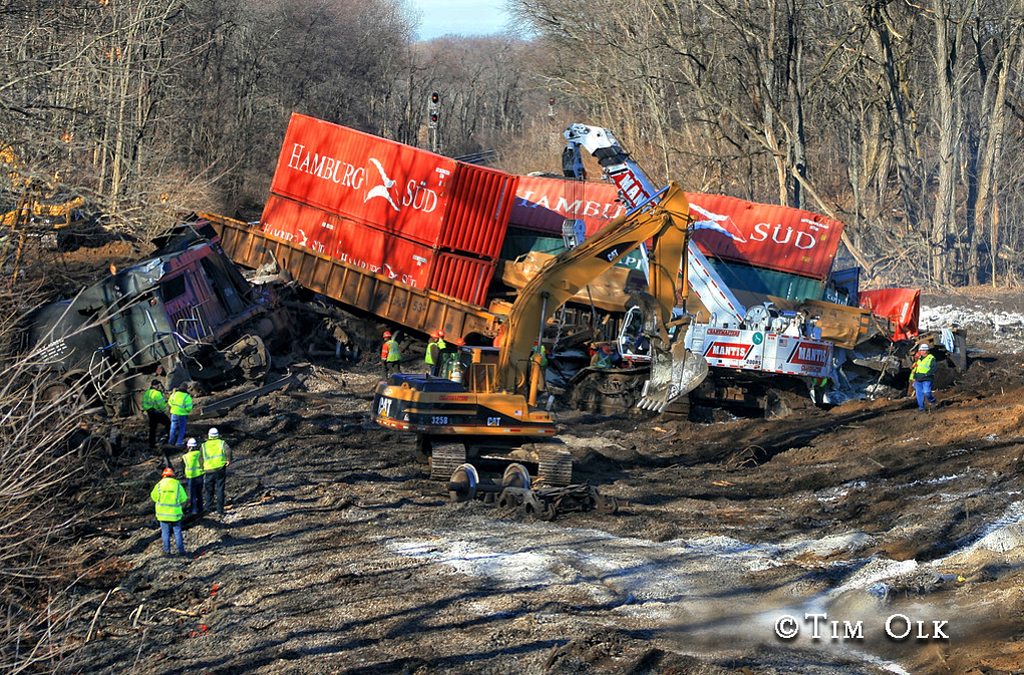 train crash and derailment in Porter County IN