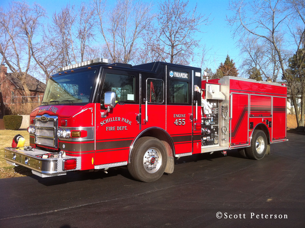 Schiller Park Fire Department Engine 455 Pierce Impel