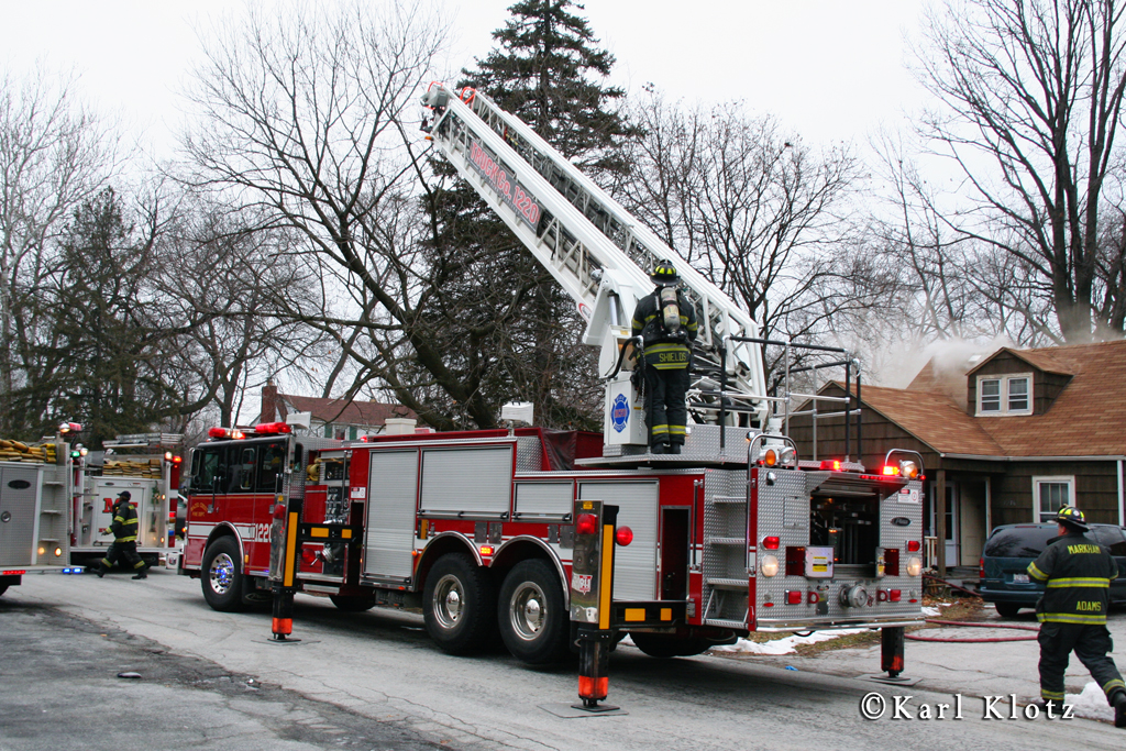 House fire in Markham 1-25-12 on 162nd Street