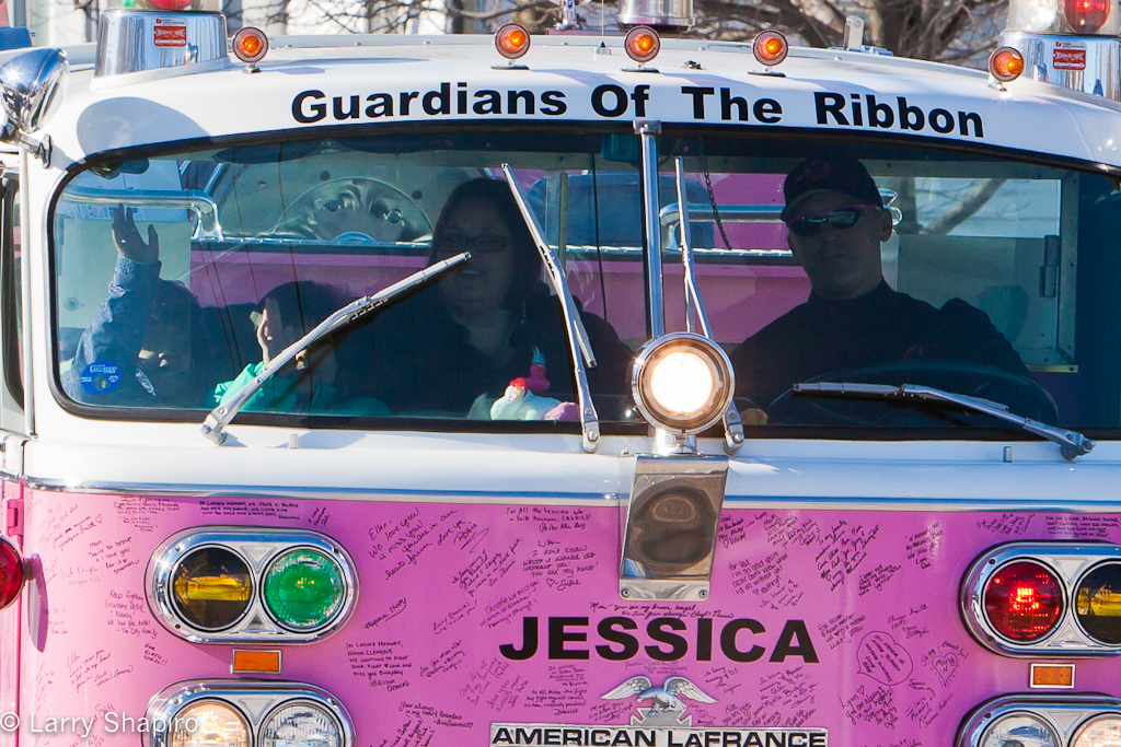 Guardians of the Ribbon escort cancer patient to fund raiser