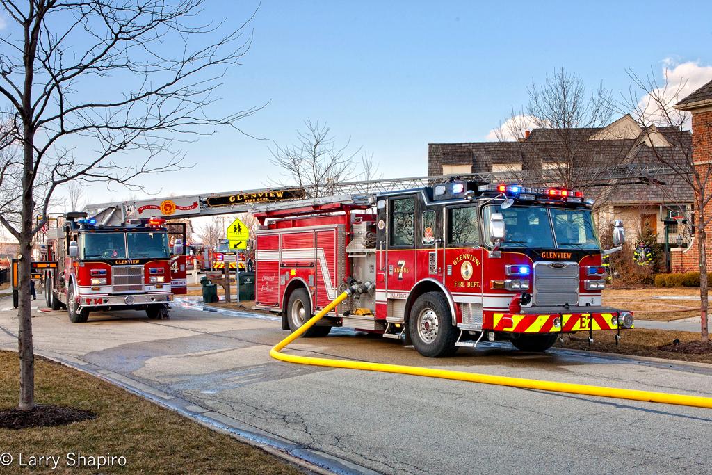 Glenview Fire Department house fire 1755 Monterey Court 2-16-12