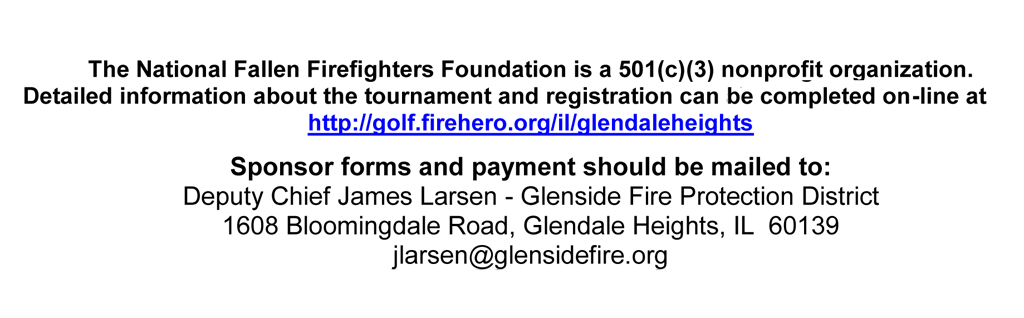 Glenside Fire Protection District 2012 Chicagoland Golf Tournament