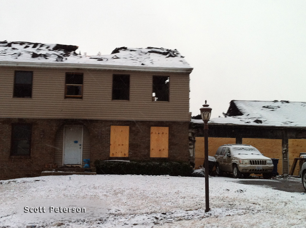 Algonquin house fire 2-20-12 on Springhill Drive